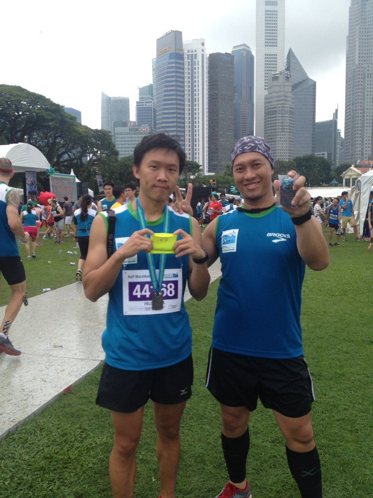 Felix & Gerry. Happy finisher!