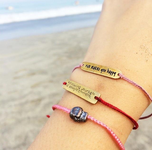 Custom plat bracelet